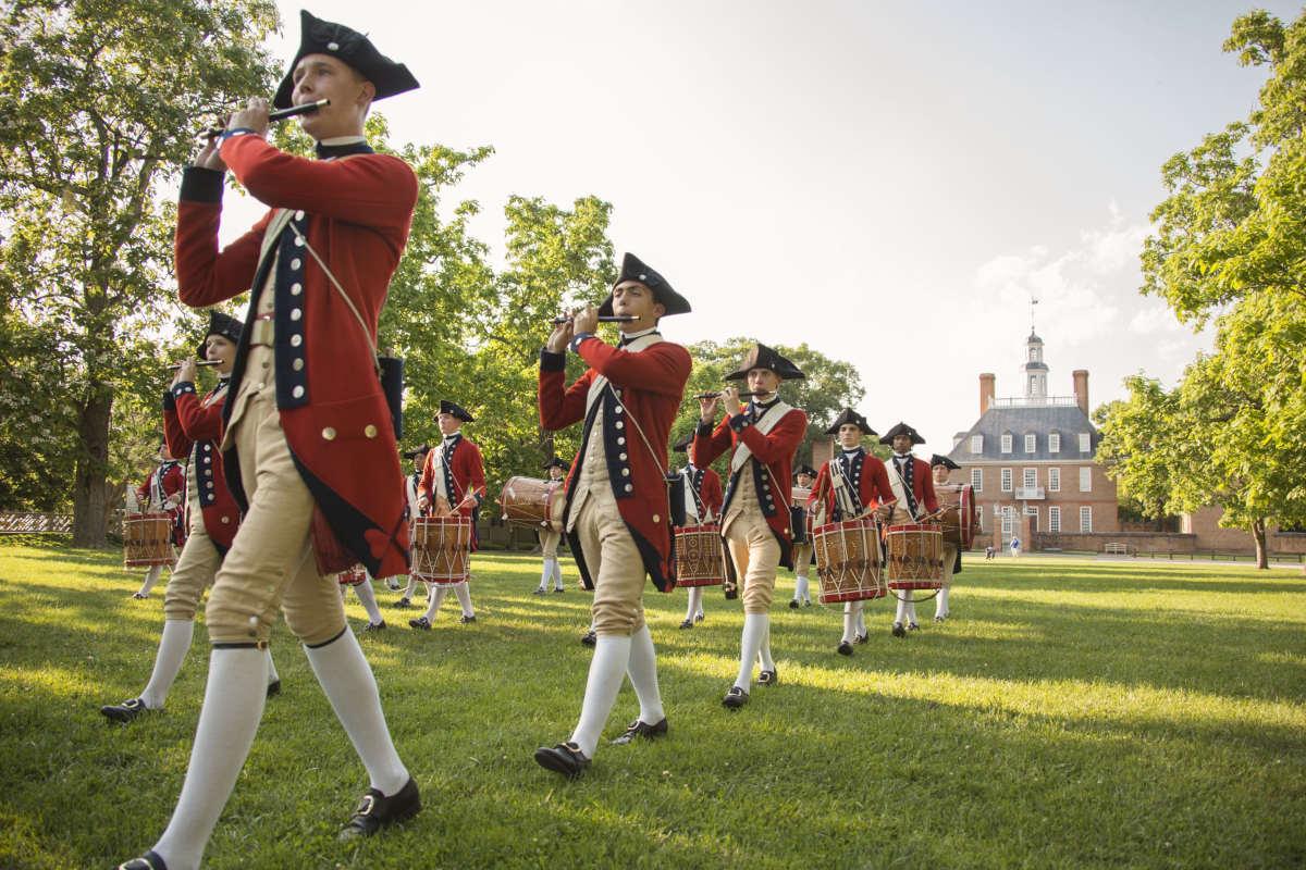 Site historique à Williamsburg en Virginie.